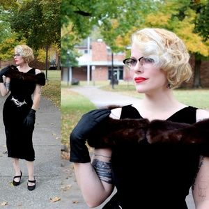 1940's Mink Stole / Detachable Caroline Collar